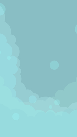 Abstract blue cloudy background vector Illustration