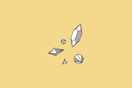 Geometric diamond design collection vector illustration Stockfoto - 121951773