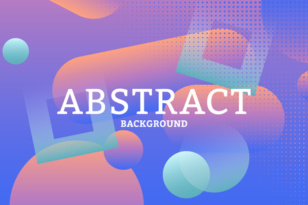 Colorful geometric abstract patterned background vector illustration Illustration
