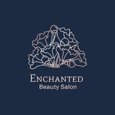 Verzauberte Schönheitssalon-Logo-Vektor-Illustration