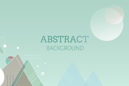 Green geometric abstract background vector illustration