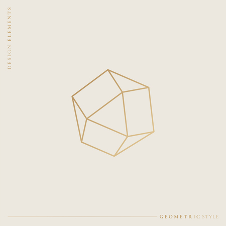 Linear geometric diamond design vector illustration