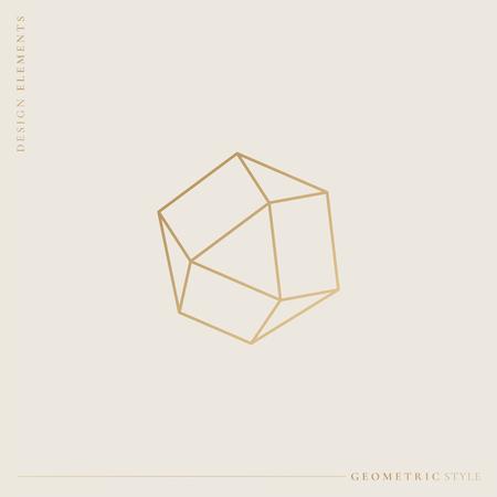 Linear geometric diamond design vector illustration Stockfoto - 121951852