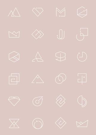 Minimal design logo collection vector illustration