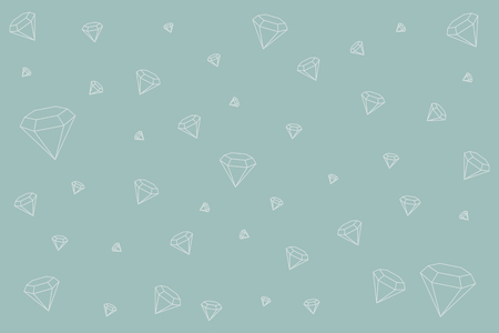 Geometric diamond design wallpaper, vector illustration