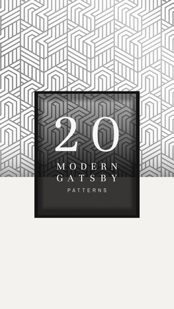 Modern gatsby pattern design, vector illustration