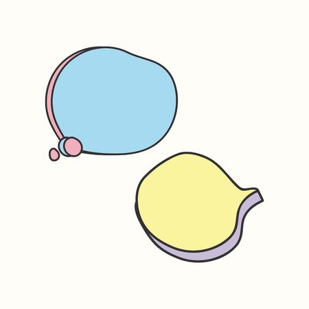 Colorful doodle speech bubble vectors collection