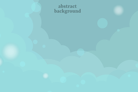 Abstract blue cloudy background, vector illustration