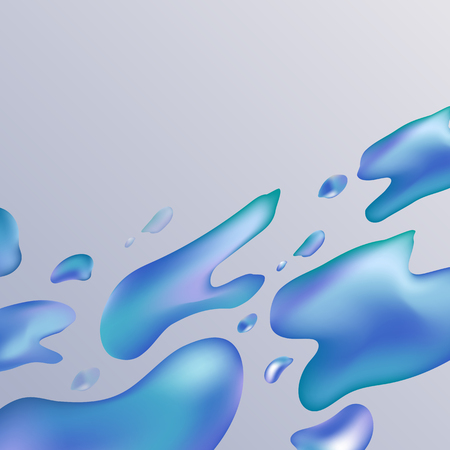Colorful fluid gradient background, vector illustration