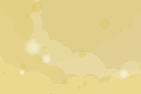 Abstracte gele bewolkte achtergrond, vectorillustratie