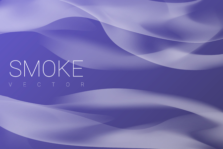 White smoke abstract on purple background, vector illustration