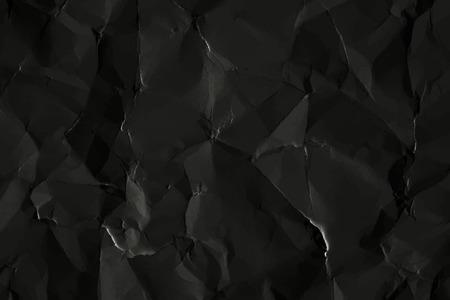 Sfondo di carta nera stropicciata, illustrazione vettoriale