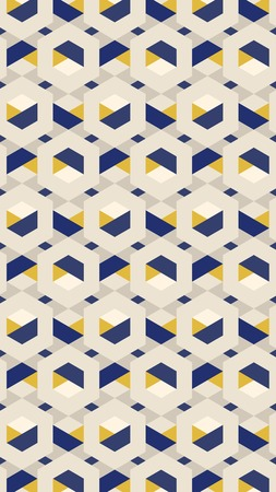 3D yellow and blue hexagonal patterned background, vector illustration