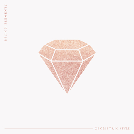 Pink geometric shimmering diamond design, vector illustration Stock Illustratie
