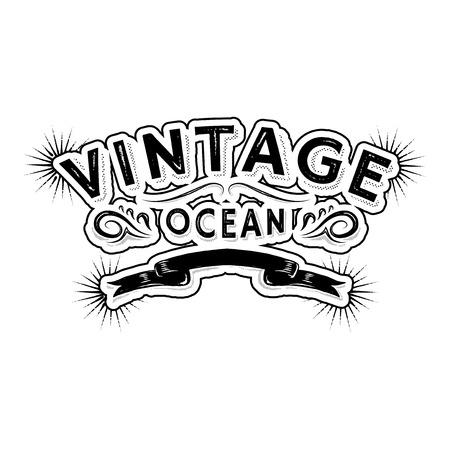 Seafood restaurant  vintage logo, vector illustration