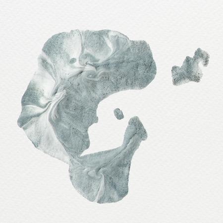 Blue acrylic brush stroke, vector illustration Stock Photo