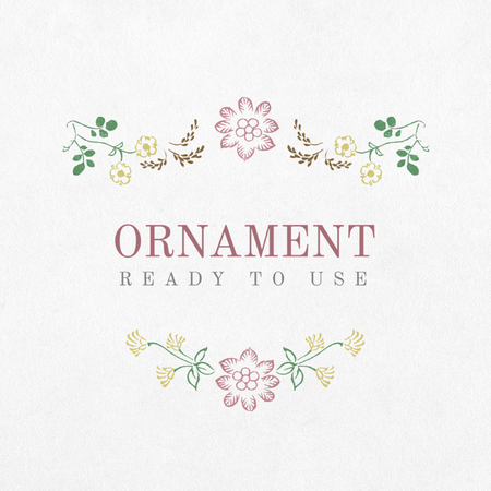 Ready to use ornament frame illustration 写真素材