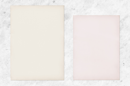Paper sets on a marble background