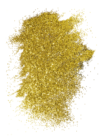 Festive sparkly gold glitter background badge Stock fotó - 121952235