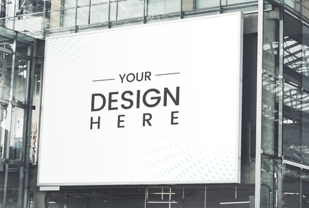 Großformatiges rechteckiges Billboard-Mockup