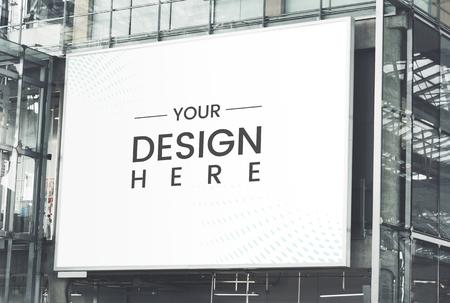 Maquette de panneau d'affichage rectangulaire à grande échelle