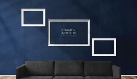 Frame mockups in a living room