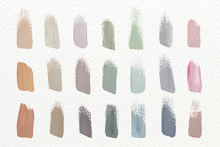 Pastel acrylic brush strokes, vector illustration 版權商用圖片