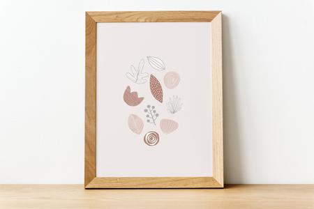 Doodle elements in a picture frame illustration