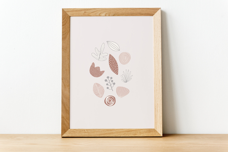 Doodle elements in a picture frame illustration