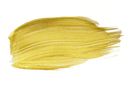 Festive shimmery yellow brush stroke
