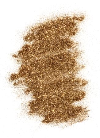 Distintivo di sfondo glitter bronzo scintillante festivo Archivio Fotografico