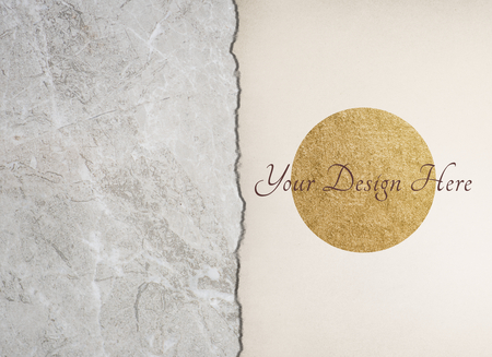 Marble texture and white paper mockup