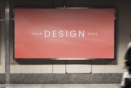 Mockup of an advertisement billboard Foto de archivo - 122424237