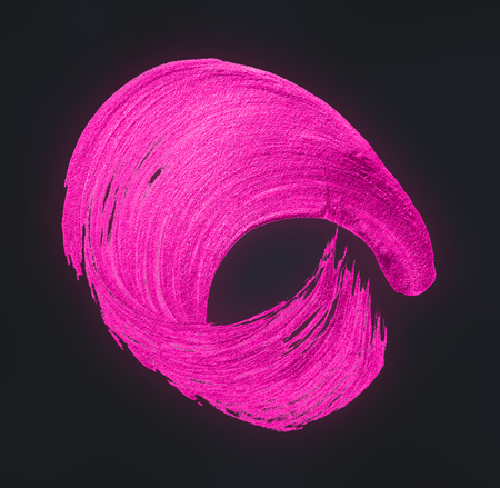 Festive shimmery pink brush stroke