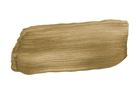 Festive shimmery bronze brush stroke Stock Photo - 122424289