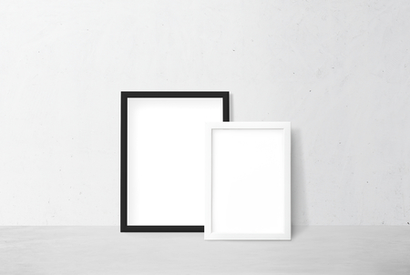 Frame mockups against a white wall