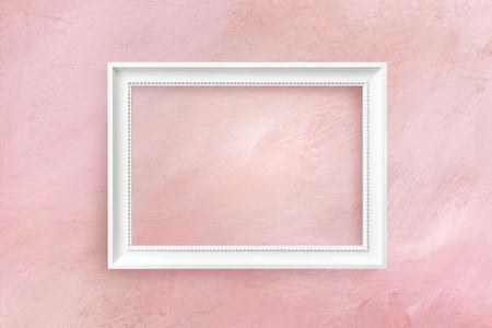 Diseño de maqueta de marco en blanco mínimo