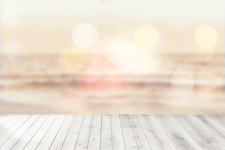 Summer beach background shot in bokeh style
