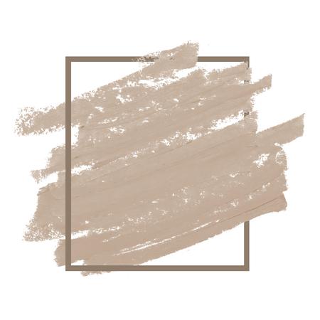 Beige lipstick smudge badge background