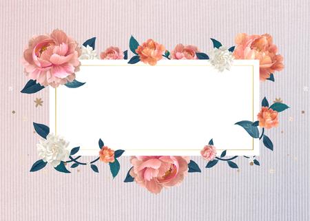 Blank floral banner template illustration