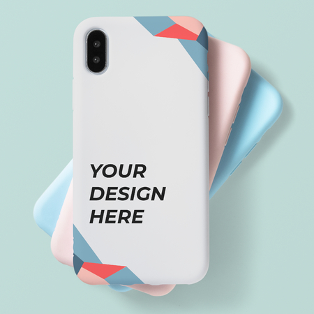 Pastel mobile phone case mockup