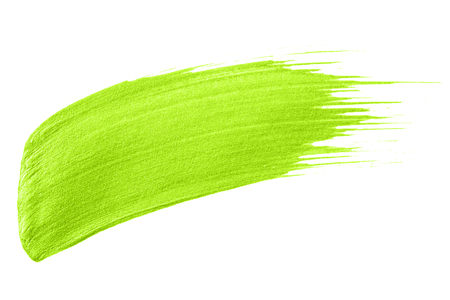 Neon lime green brush stroke Stock Photo