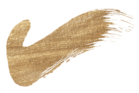 Tick mark shimmery golden brush stroke