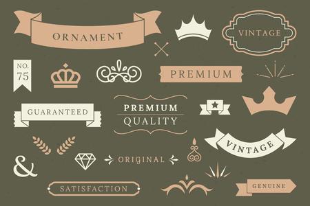 Vintage premium quality design element vectors Illustration