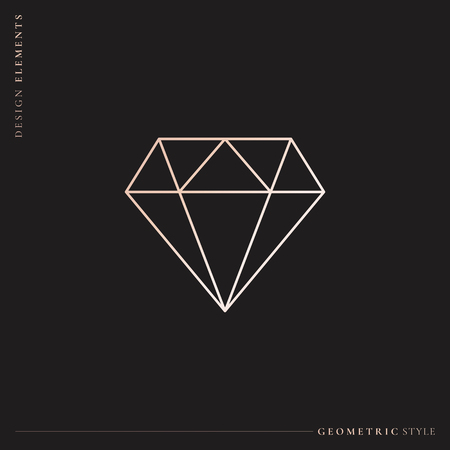 Linear geometric diamond design vector Stockfoto - 123212247