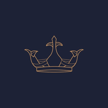 Luxurious blue crown design vector