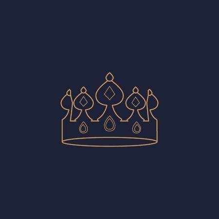Luxurious blue crown design vector