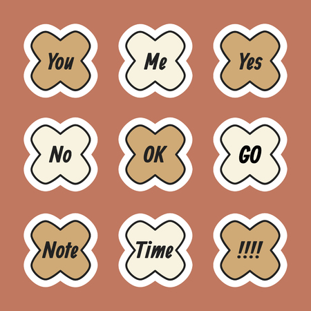 Cute planner sticker vector collection