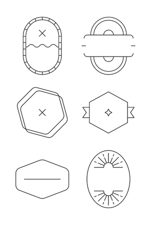 Black badge vectors collection on a white background