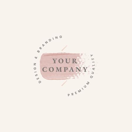 Company minimal logo design vector Illustration